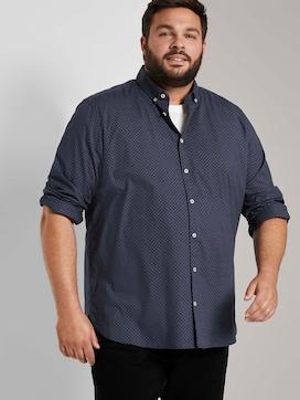 Stretch shirt met print - 5 - Men Plus