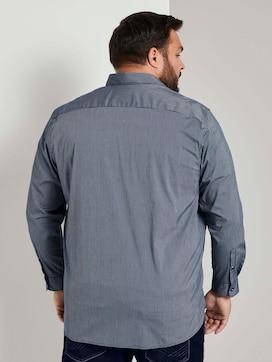 Bedrukt Slim Stretch hemd - 2 - Men Plus
