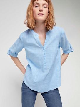 Henley blouse met textuur - 5 - TOM TAILOR