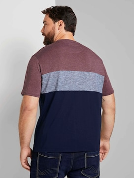 Block stripe T-Shirt with a chest pocket  - 2 - Tom Tailor E-Shop Kollektion