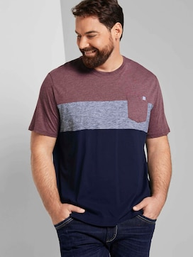 Block stripe T-Shirt with a chest pocket  - 5 - Tom Tailor E-Shop Kollektion