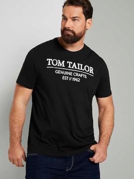 T-shirt met logo print - 5 - Men Plus