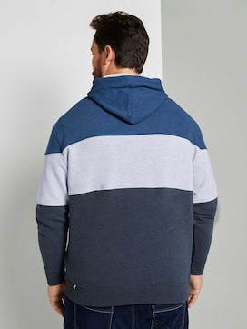 Striped hoodie in colour blocking - 2 - Tom Tailor E-Shop Kollektion