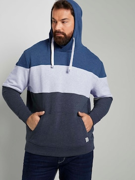 Striped hoodie in colour blocking - 5 - Tom Tailor E-Shop Kollektion