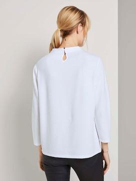Strukturiertes Stehkragen Shirt - 2 - TOM TAILOR