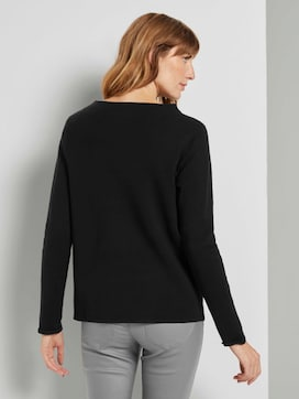 Basic Pullover mit Stehkragen - 2 - TOM TAILOR
