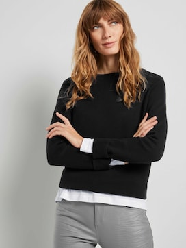 Basic Pullover mit Stehkragen - 5 - TOM TAILOR