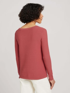 Basic Pullover mit Struktur - 2 - TOM TAILOR
