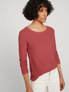 Basic Pullover mit Struktur - 5 - TOM TAILOR