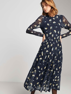 Midi-jurk met gegolfde bloemenprint - 5 - TOM TAILOR Denim