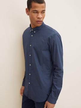 Gemustertes Hemd mit Stretch-Anteil - 5 - TOM TAILOR Denim
