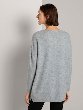 Langer Pullover mit V-Ausschnitt - 2 - TOM TAILOR Denim