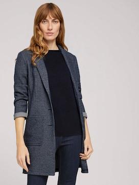 Lange blazer in melange look - 5 - TOM TAILOR