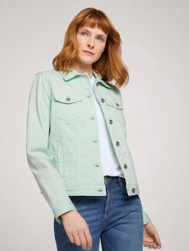Dyed denim jacket made with organic cotton   - 5 - TOM TAILOR