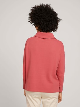 Strukturiertes Sweatshirt mit Rollkragen - 2 - TOM TAILOR