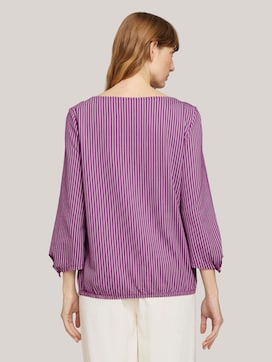 striped t-shirt with an elastic hem - 2 - TOM TAILOR