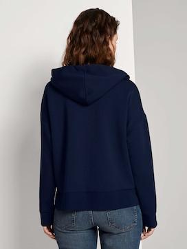 Loose hooded sweat jacket - 2 - TOM TAILOR