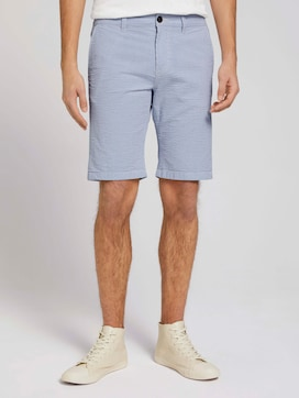 Gemusterte Chino Slim Shorts - 1 - TOM TAILOR Denim