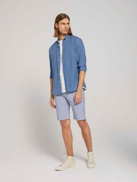 Gemusterte Chino Slim Shorts - 3 - TOM TAILOR Denim