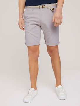 Chino shorts with belt - 1 - TOM TAILOR Denim