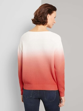 Pullover met ombre kleurverloop - 2 - TOM TAILOR