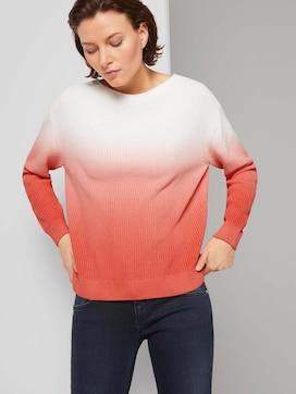 Pullover met ombre kleurverloop - 5 - TOM TAILOR
