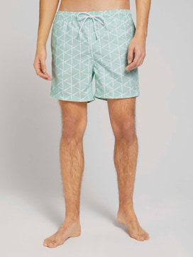 Gemusterte Badeshorts - 1 - TOM TAILOR Denim