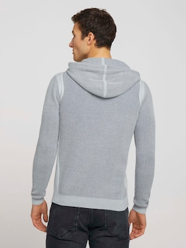 structured hoody made with organic cotton  - 2 - TOM TAILOR