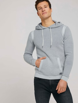 structured hoody made with organic cotton  - 5 - TOM TAILOR