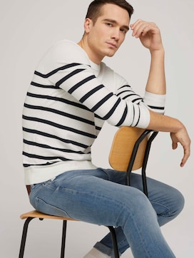 striped sweater made with organic cotton  - 5 - TOM TAILOR