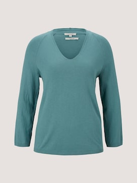 sweater with a V-neckline made with organic cotton  - 7 - Mine to five