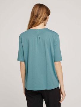 T-shirt met stofmix - 2 - Mine to five