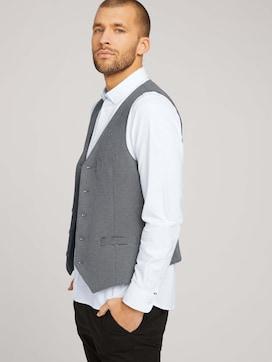 Finely textured vest - 5 - TOM TAILOR
