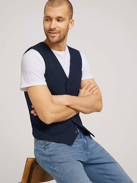 vest made with organic cotton  - 5 - TOM TAILOR
