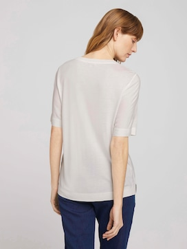 Loose Fit T-Shirt mit Stoffmix - 2 - TOM TAILOR