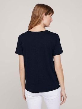 t-shirt with a print on the chest made with organic cotton   - 2 - TOM TAILOR