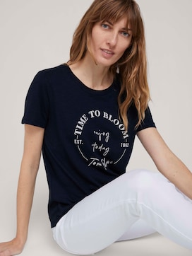 t-shirt with a print on the chest made with organic cotton   - 5 - TOM TAILOR