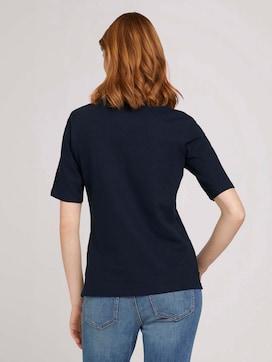 Poloshirt met print en zijsplitje met biologisch katoen  - 2 - TOM TAILOR