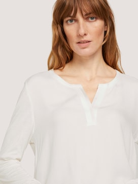 long-sleeved shirt with a henley neckline - 9 - TOM TAILOR