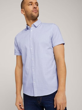 fitted smart dobby shirt - 5 - TOM TAILOR