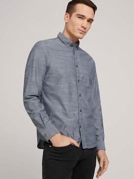 regular smart slub shirt made with organic cotton  - 5 - TOM TAILOR