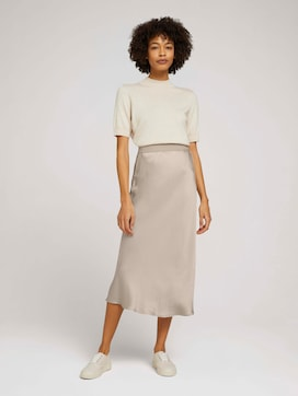 Satin midi skirt - 3 - Mine to five