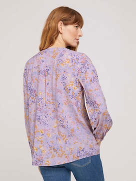 patterned blouse with a button tab - 2 - TOM TAILOR