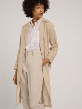 trench coat with side slits - 5 - Mine to five