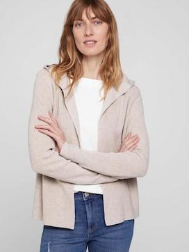 Geribbeld vest met hoodie met biologisch katoen  - 5 - TOM TAILOR
