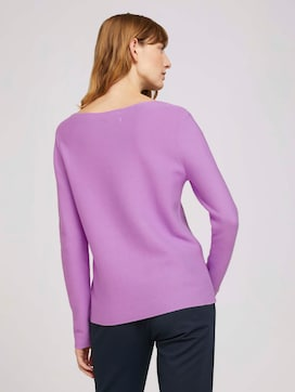 textured sweater made with organic cotton   - 2 - TOM TAILOR