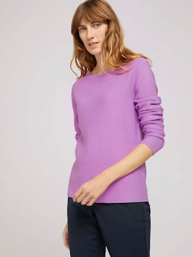 textured sweater made with organic cotton   - 5 - TOM TAILOR