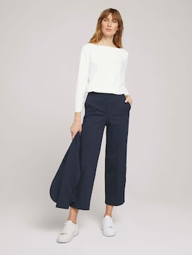 gestreifte Cropped Lea Hose - 3 - TOM TAILOR