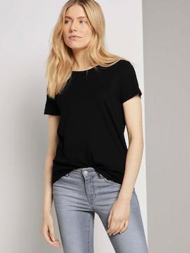 Basic T-Shirt aus Modalgemisch - 5 - TOM TAILOR