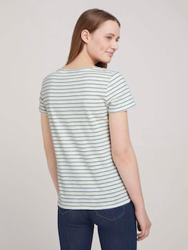striped t-shirt made with organic cotton   - 2 - TOM TAILOR Denim